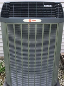 An AC unit after repairs